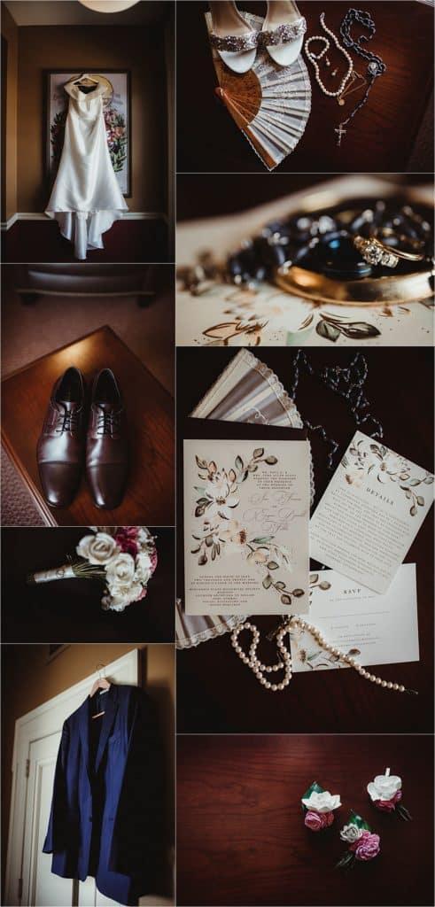 Elegant Outdoor Wedding Getting Ready Details