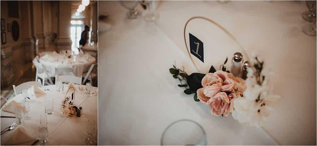 Elegant Outdoor Wedding Close Up Table Details
