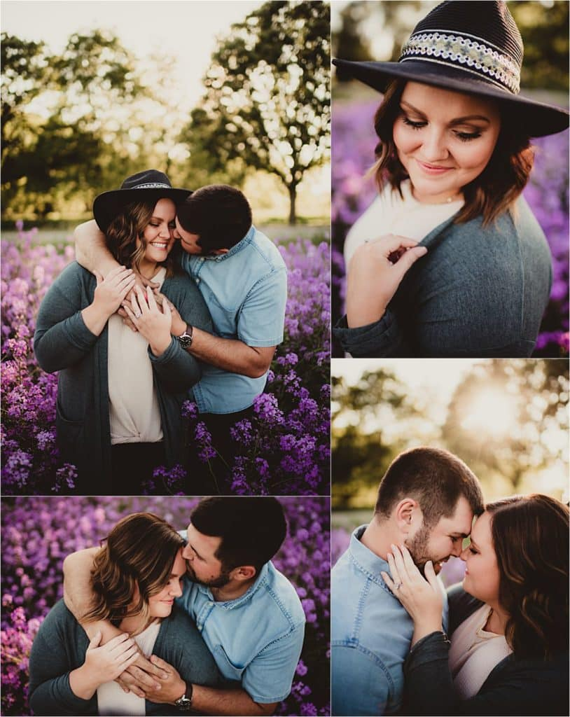 Collage Couple in Purple Flowers