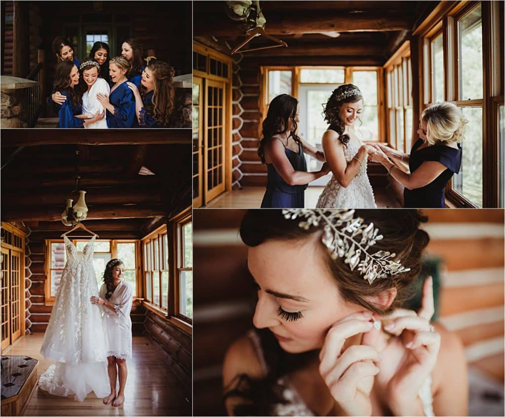 Spring Forest Wedding Bride Getting Ready