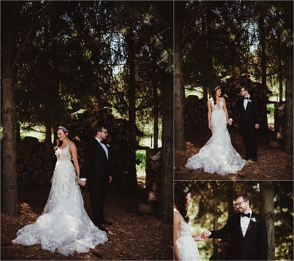 Spring Forest Wedding First Look