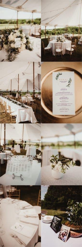 Spring Forest Wedding Reception Details
