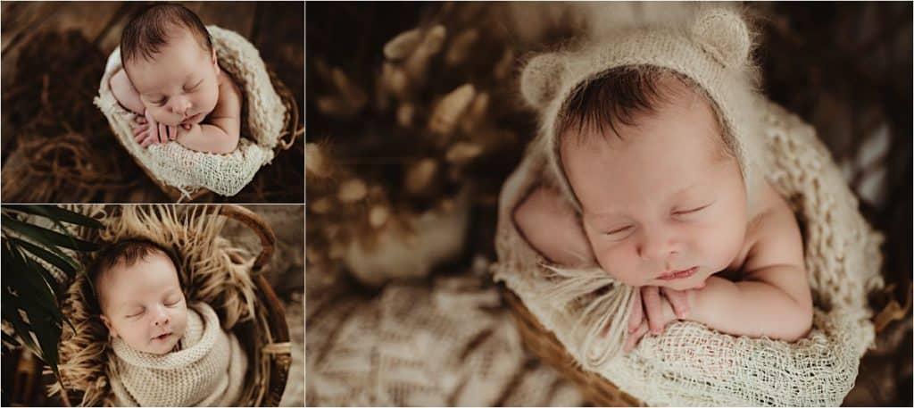 Newborn Boy in Neutral Wraps