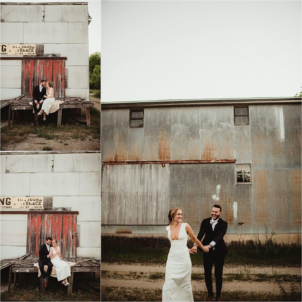 Rustic June Wedding Collage Bride Groom