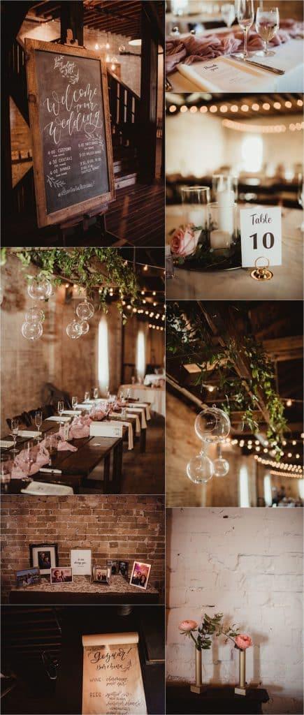 Rustic June Wedding Reception Details