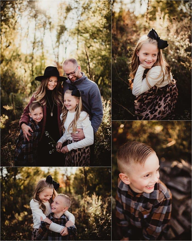 Fall Foliage Family Session Collage