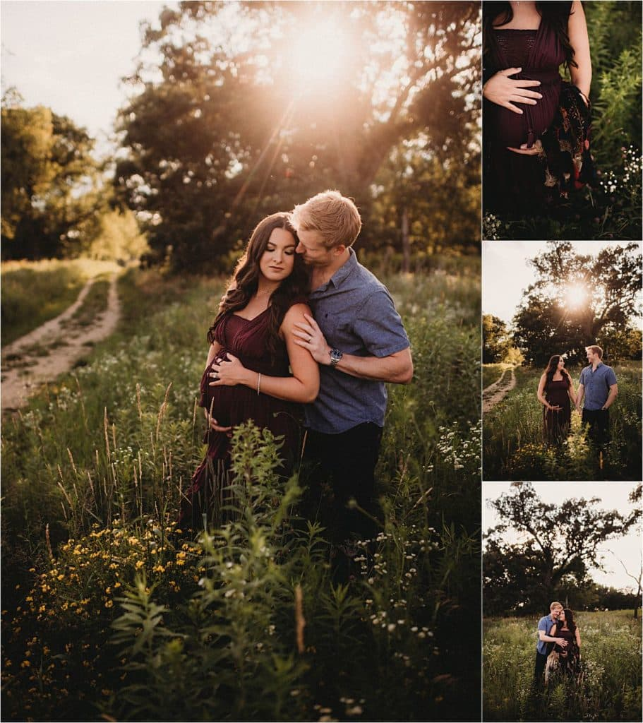 Summer Sunset Maternity Session Collage