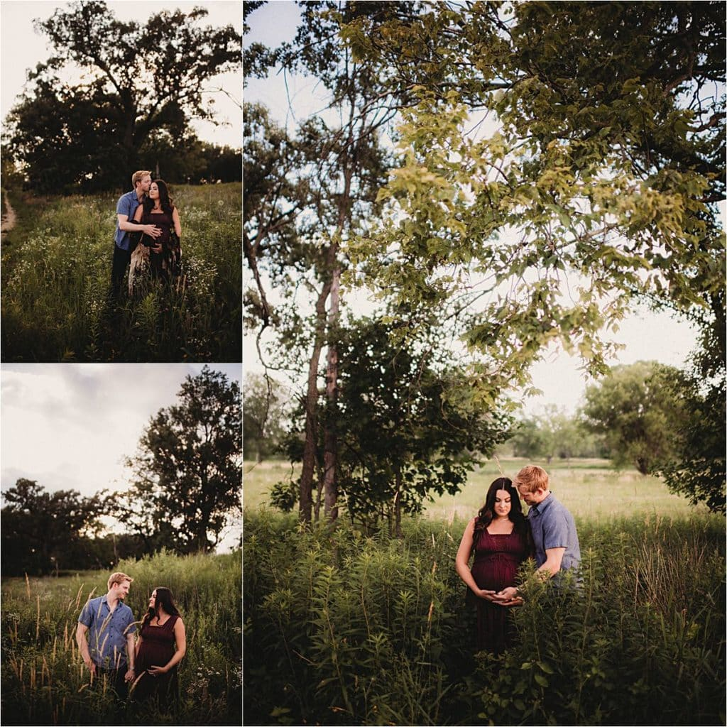 Maternity Session Couple in Field