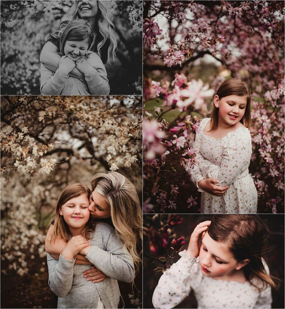 Magnolia Blooms Family Session  Mama Daughter