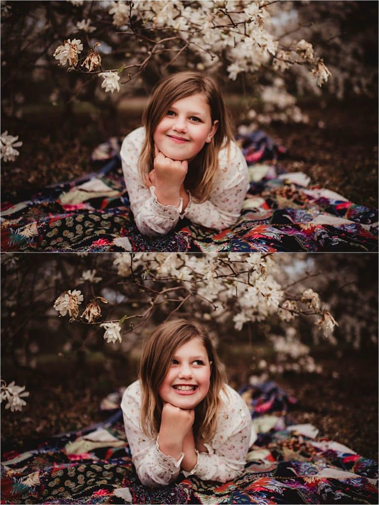 Daughter on Blanket