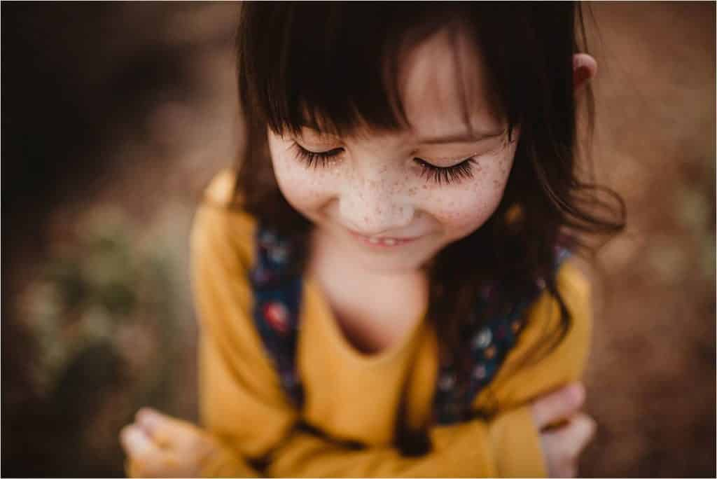 Close Up Little Girl Freckles