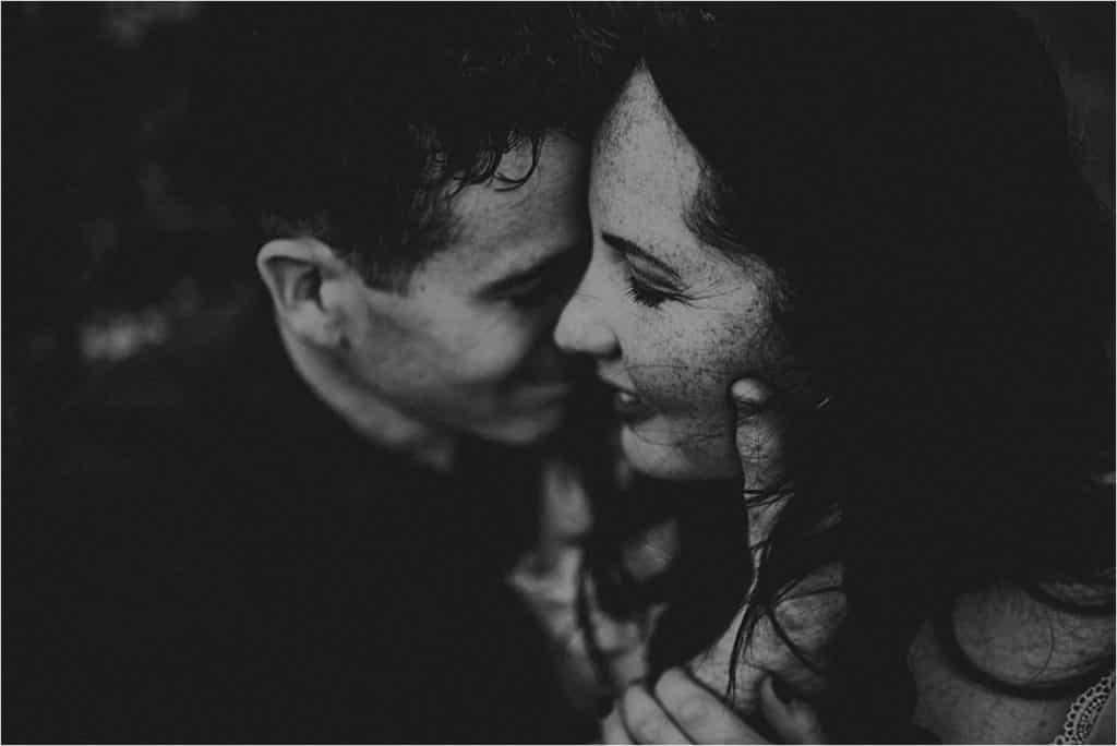 Black White Image Close Up Parents