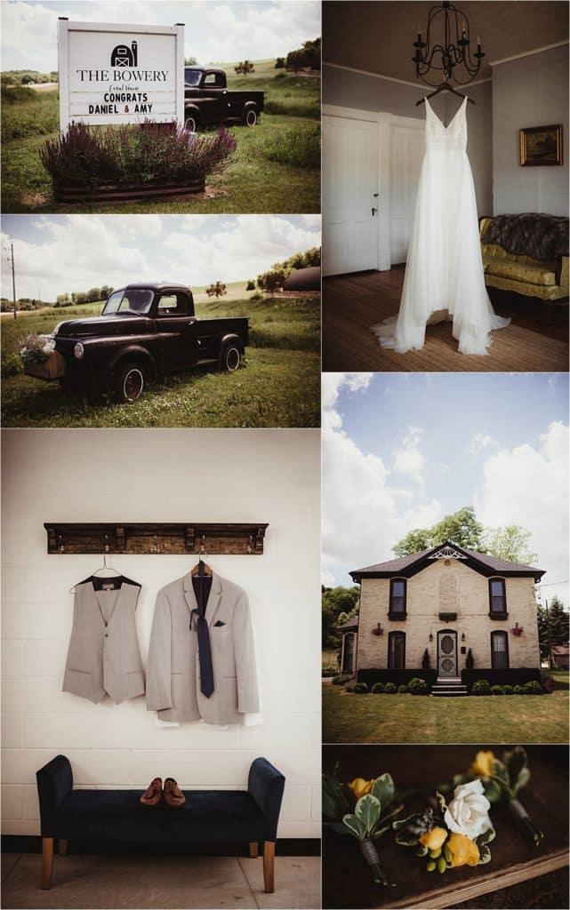 Modern Barn Wedding Getting Ready Details