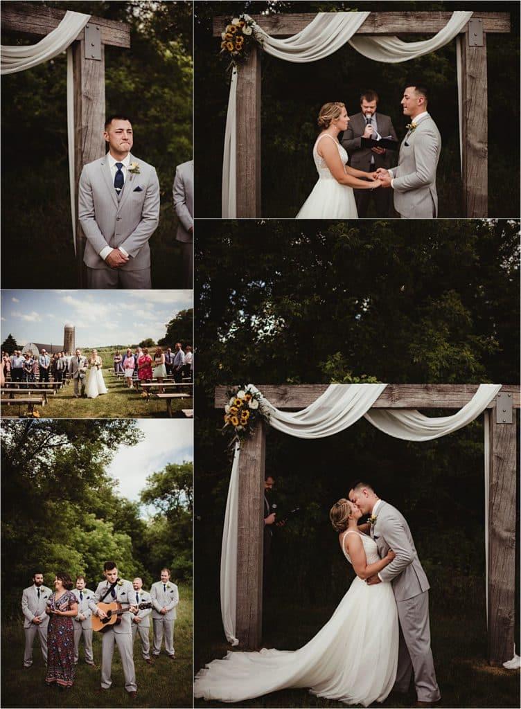 Modern Barn Wedding Ceremony