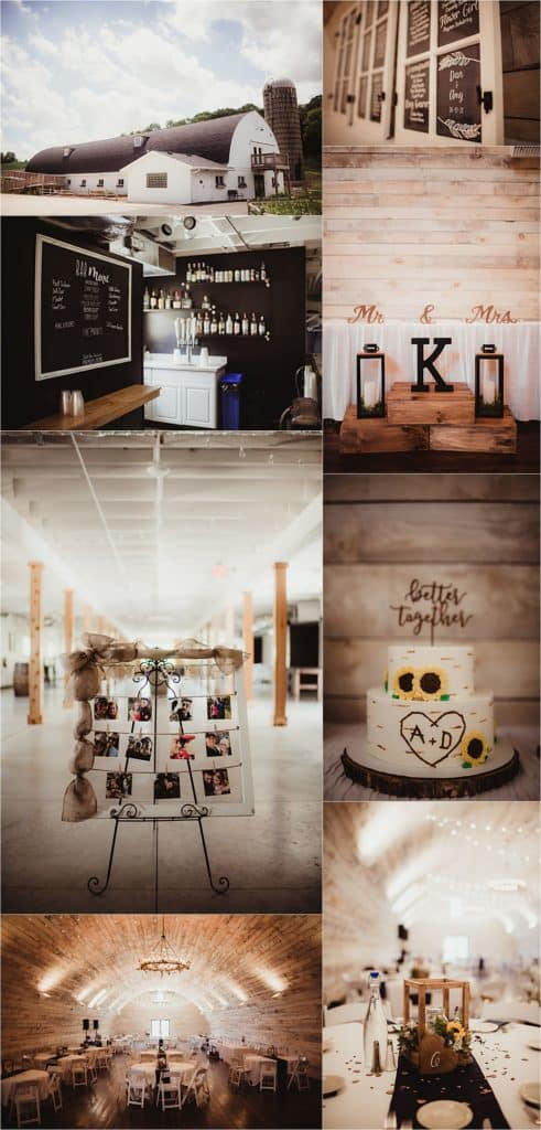 Modern Barn Wedding Reception Details