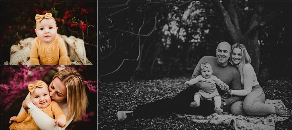 Spring Milestone Session Family with Baby Girl