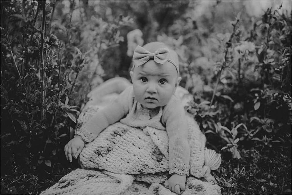 Black White Image Baby Girl
