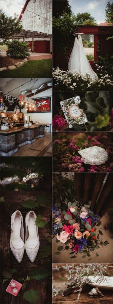 Rustic Chic Summer Wedding Getting Ready Details