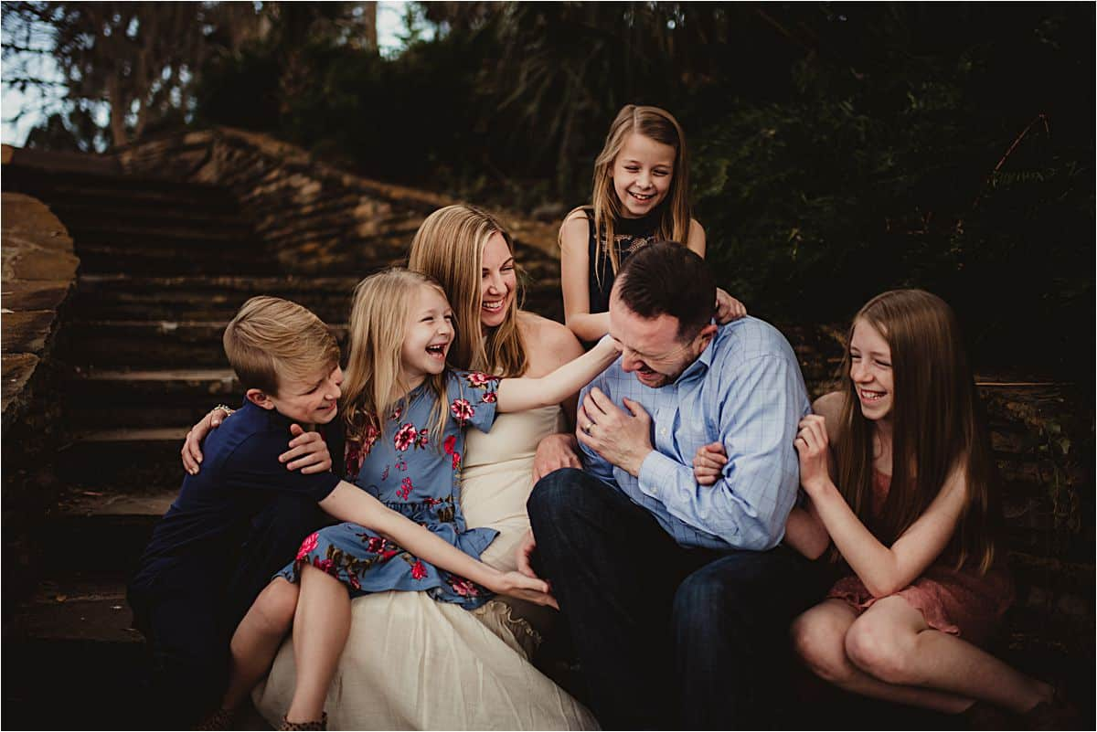 Family Tickling Laughing