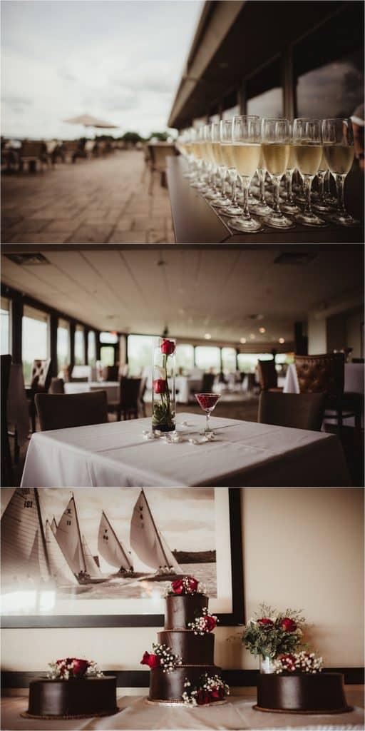 Pops of Red Wedding Reception Details