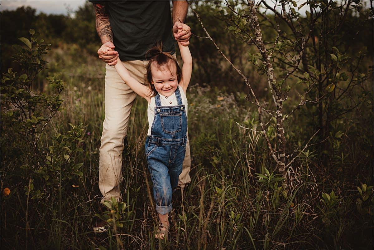 Dad Walking Little Kid