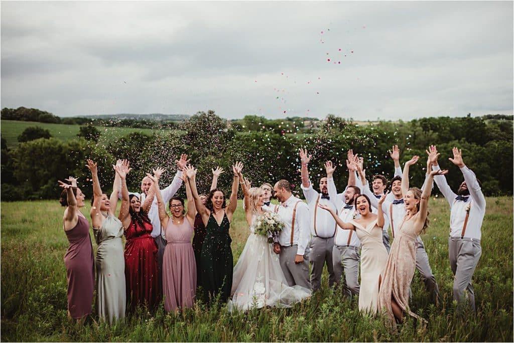 Stormy Skies Summer Wedding Party Confetti