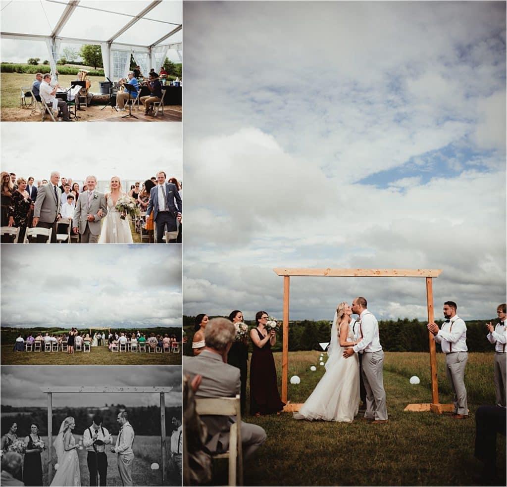 Stormy Skies Summer Wedding Ceremony