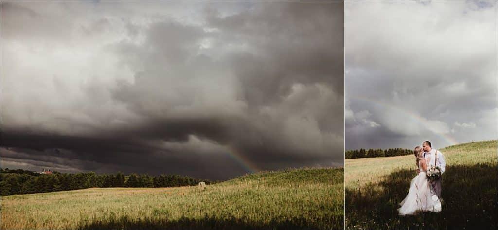 Stormy Skies Summer Wedding Rainbow