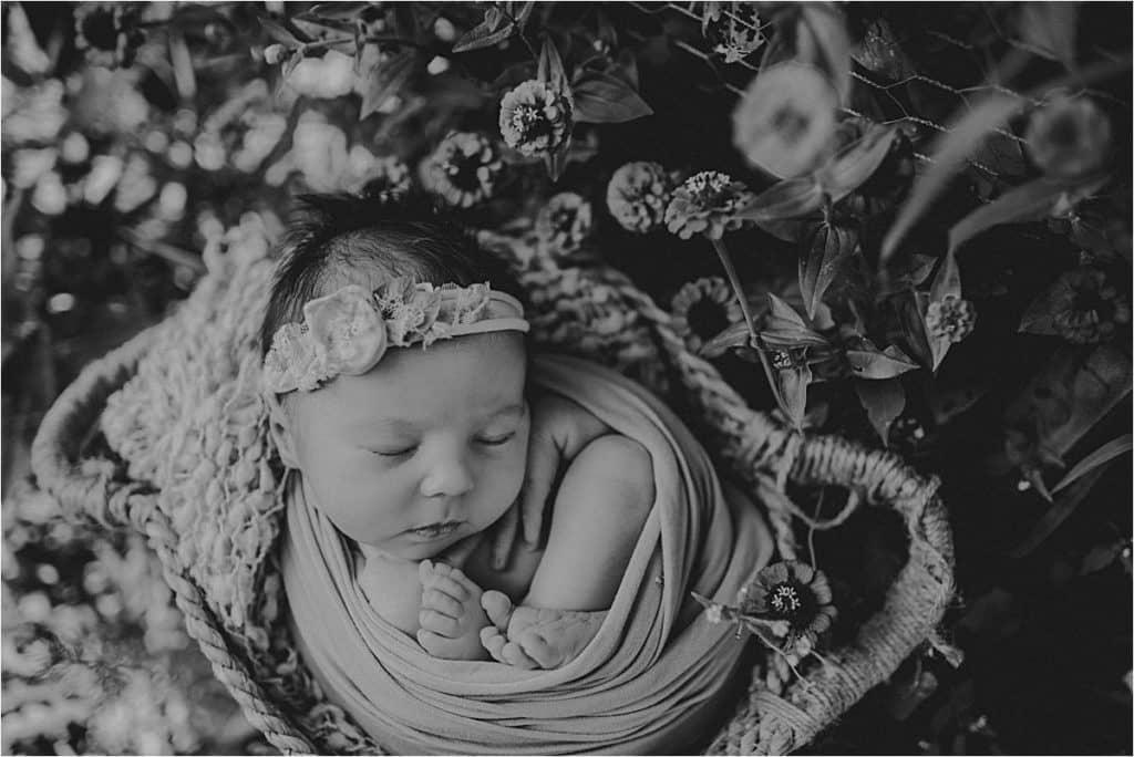 Black White Image Newborn