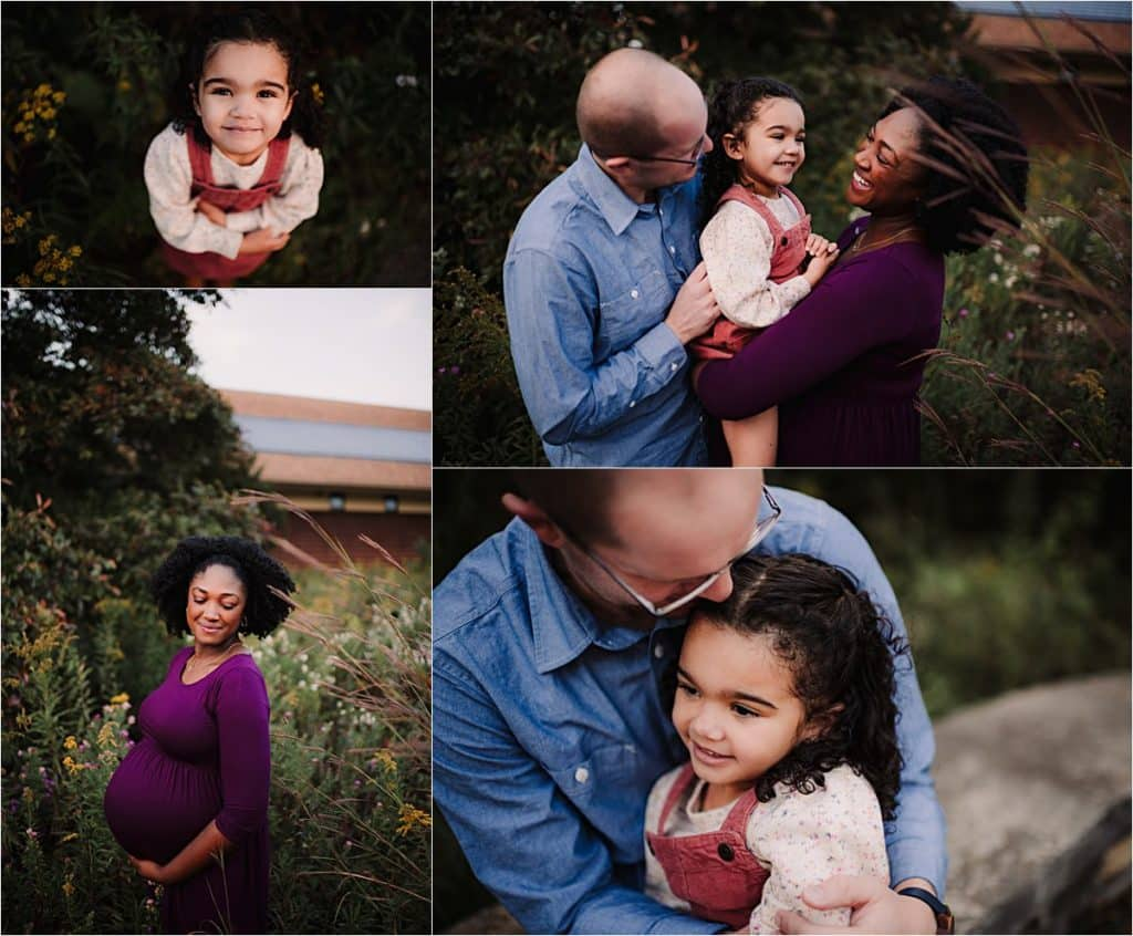 Summer Family Maternity Session Collage Family