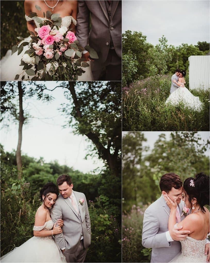 Collage Bride Groom in Field