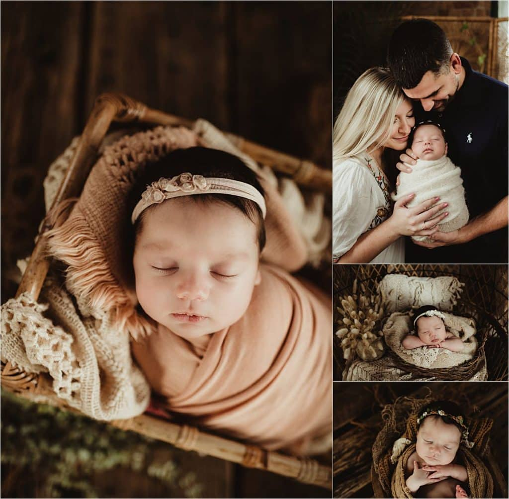 Collage Newborn Girl