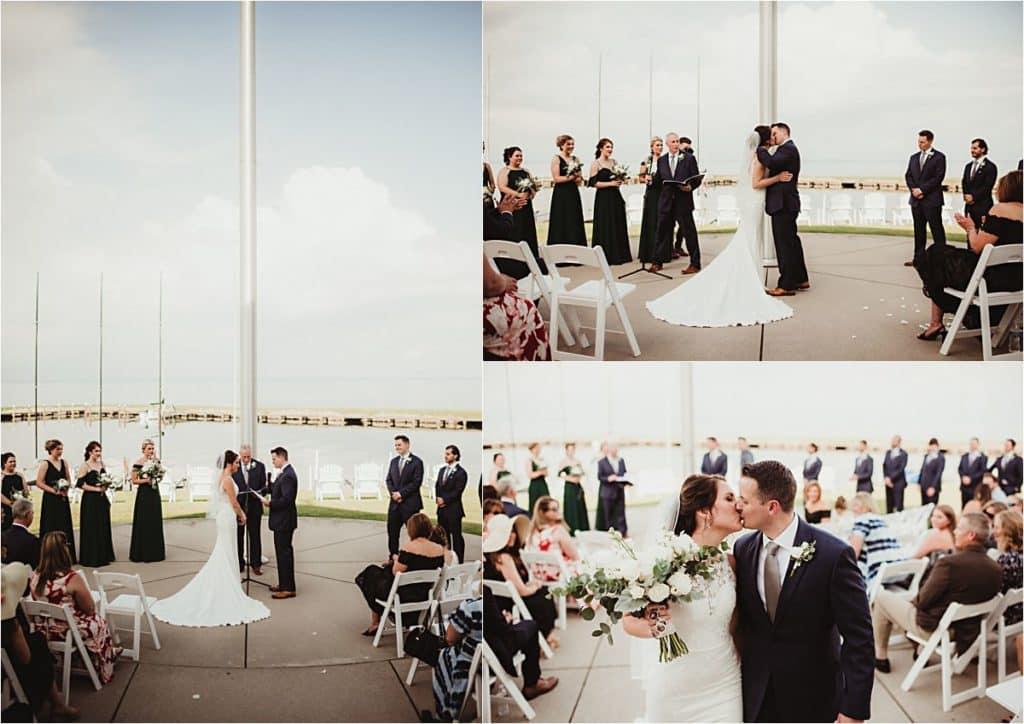 WI Summer Waterfront Wedding Ceremony