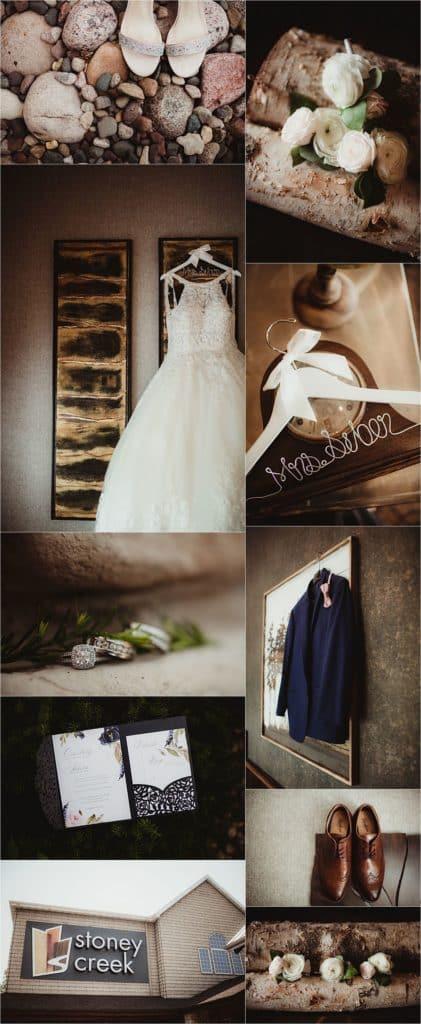 Western Wisconsin Summer Wedding Getting Ready Details
