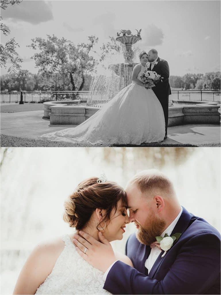 Bride Groom at Fountain