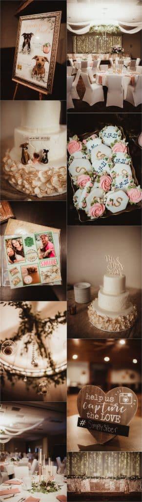 Western Wisconsin Summer Wedding Reception Details