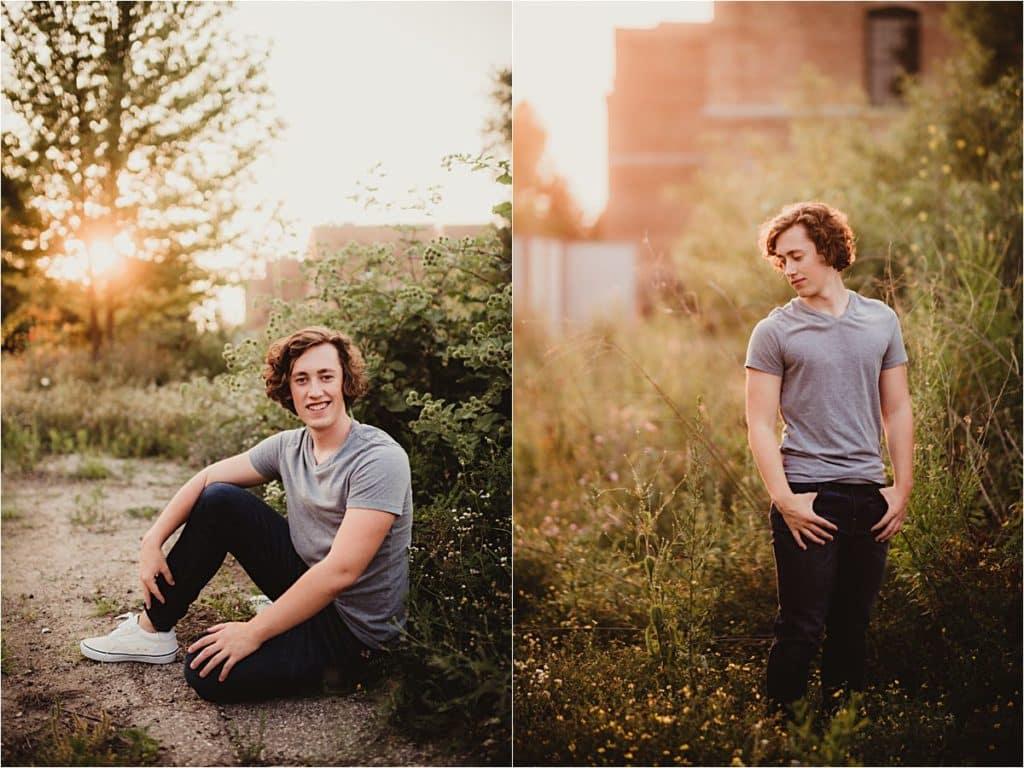 Senior Boy in Gray Shirt
