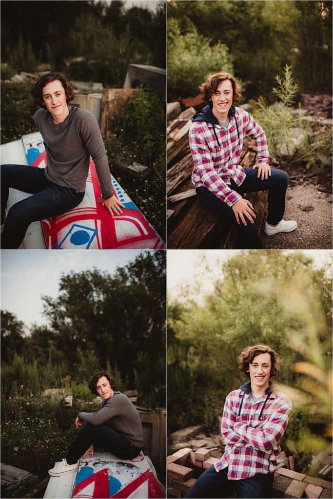 Collage Boy in Field