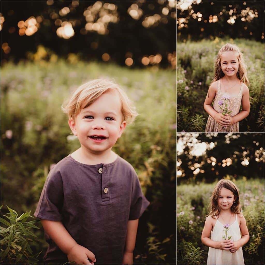 Wildflower Sunset Session Portraits of Kids