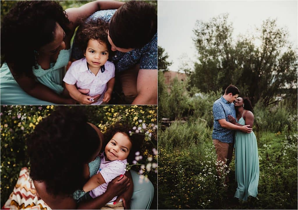 Urban Wildflower Family Session Collage Family with Son