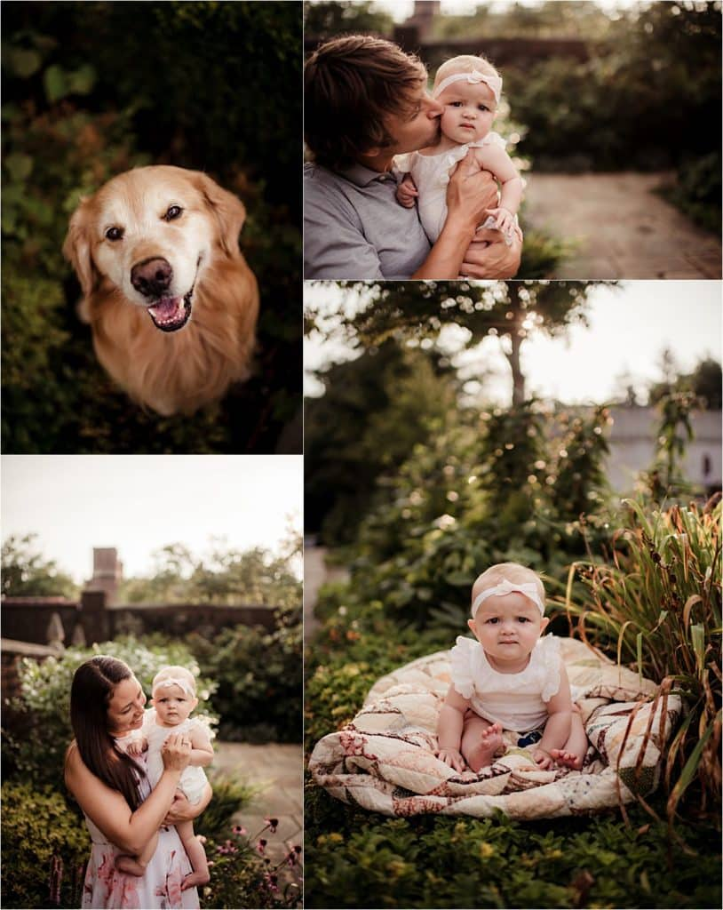 Collage Family with Dog