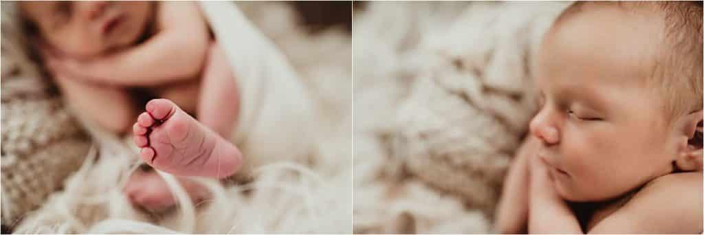 Newborn Boy Summer Session Close Up Newborn Details