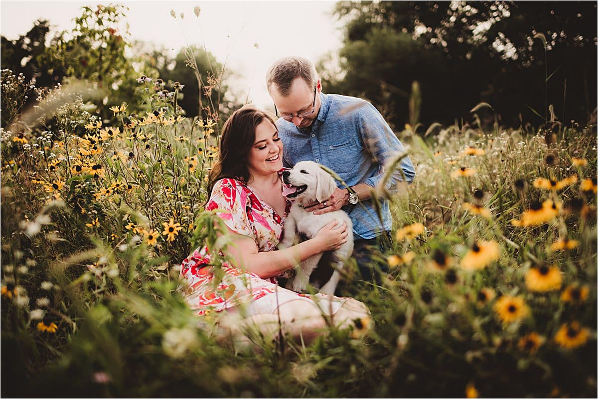 Couple Holding Puppy
