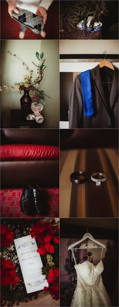 Shades of Blue Wedding Getting Ready Details