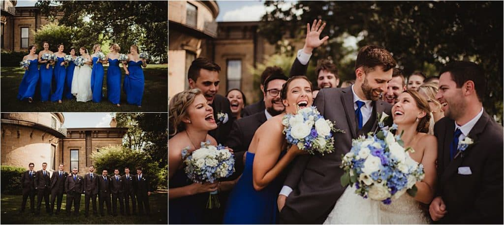Shades of Blue Wedding Party