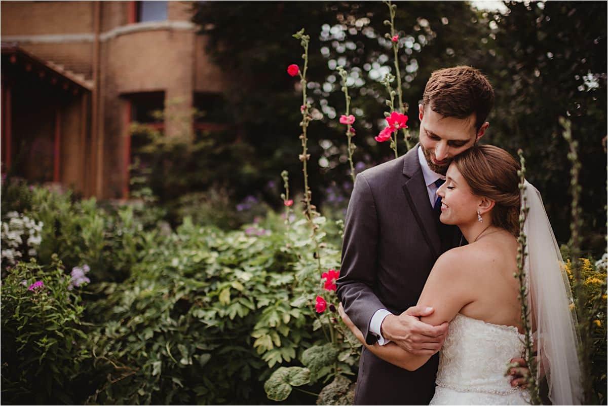 Bride Groom in Flowers