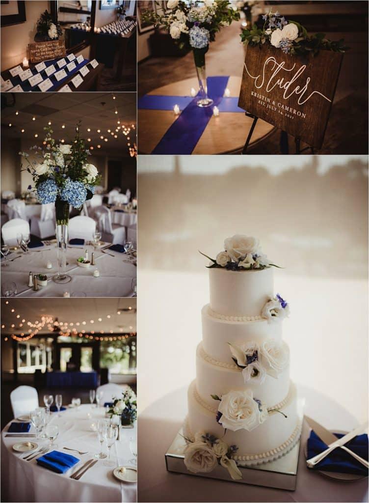 Shades of Blue Wedding Reception Details