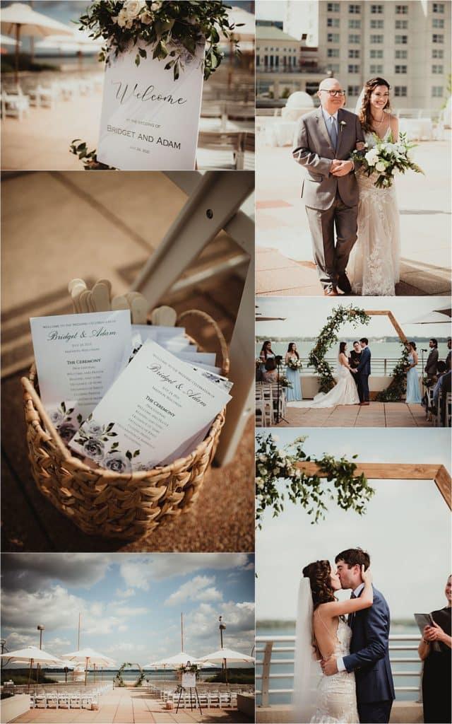 Monona Terrace Summer Wedding Ceremony