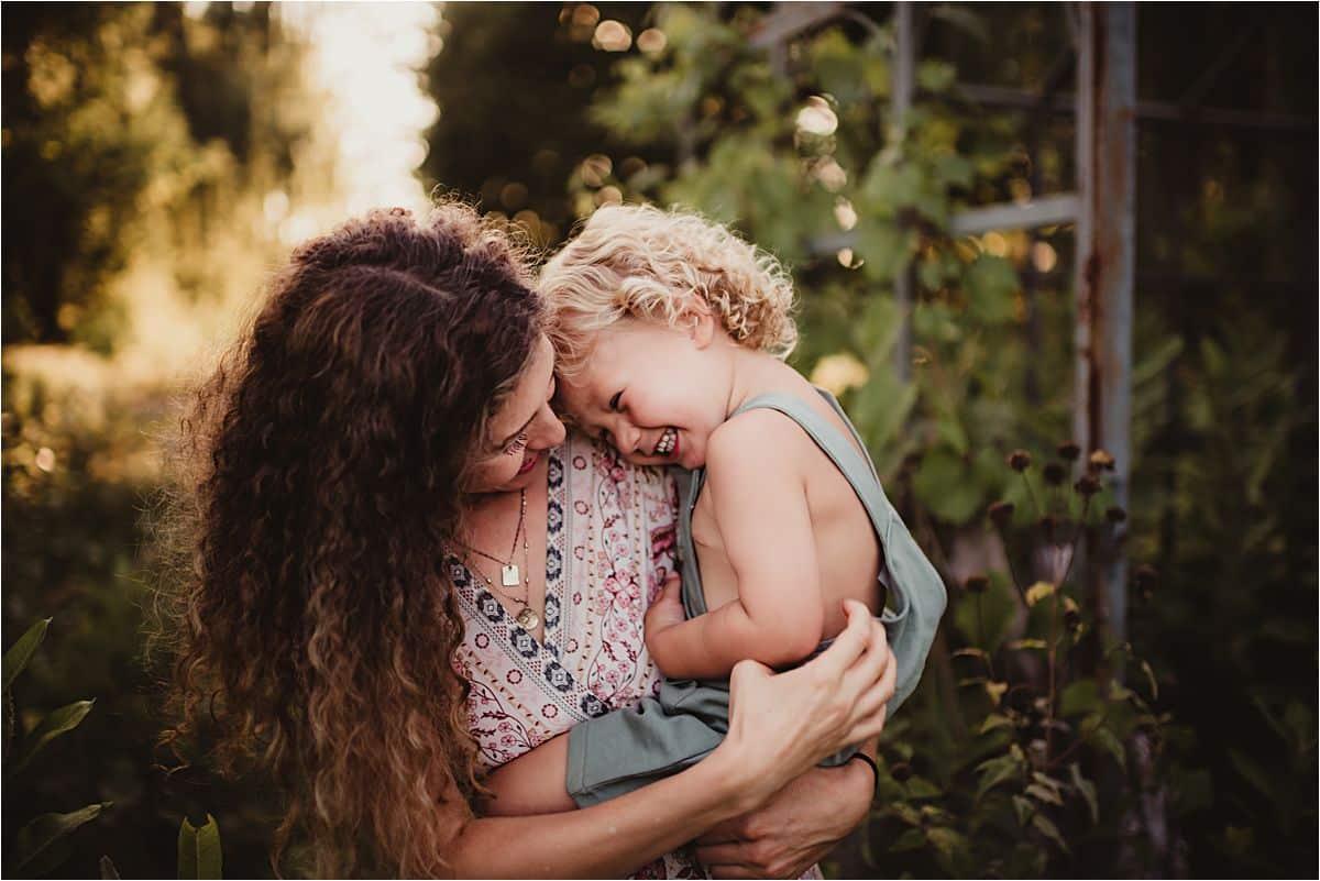 Mama Snuggling Child