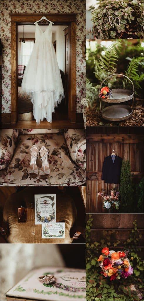 Romantic Summer Barn Wedding Getting Ready Details